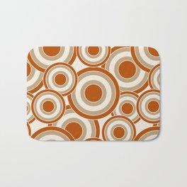 Overlapping Circles in Burnt Orange and Tan Bath Mat