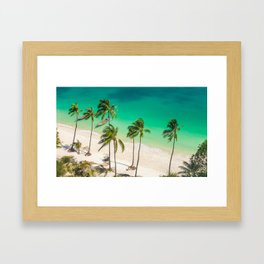 An Aerial view of a Scenic Beach in Thailand Framed Art Print