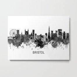 Bristol England skyline BW Metal Print