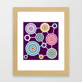 ROUND CONECTION Framed Art Print