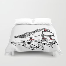 the Puffins Duvet Cover