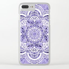 Mandala Lavender Colorburst Clear iPhone Case