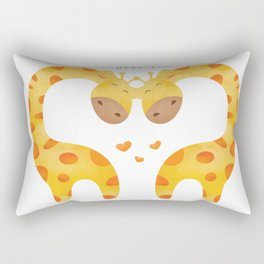 Giraffe Couple With Heart - You stole my hear but I will let you keep it - Happy Valentines Day Rectangular Pillow
