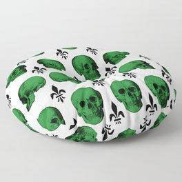 Green Skulls Floor Pillow