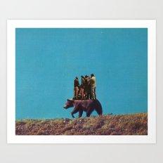 bearback riding Art Print