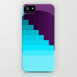 Ups and Down | Deep Within | Purple | Blue | Turquoise iPhone Case