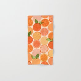 Sunny Oranges / Tropical Fruit Illustration Hand & Bath Towel