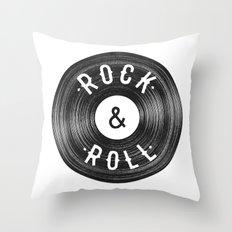 Rock & Roll Throw Pillow