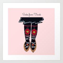 Socks from Timok, Serbia Art Print