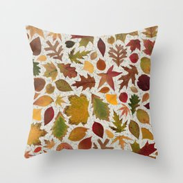 Autumn Leaves Speckle Throw Pillow