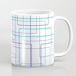 Blue Line Pattern Coffee Mug