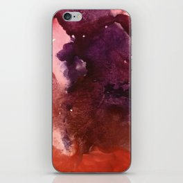 Starlight [2]: a pretty abstract watercolor piece in reds and purples by Alyssa Hamilton Art iPhone Skin
