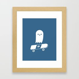 Skate Ghost Framed Art Print
