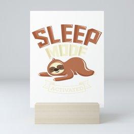 Sleep Mode Activated Cute Sloth Mini Art Print