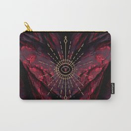 Scarlet Heart Mineral Eye Carry-All Pouch