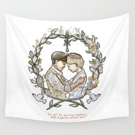 """Illustration from the video of the song by Wilder Adkins, """"When I'm Married"""" (no names on it) Wall Tapestry"""