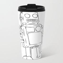 Color Your Own Robot! Metal Travel Mug