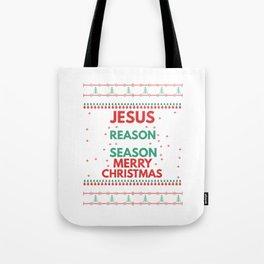 UGLY CHRISTMAS SWEATERS - JESUS THEME Tote Bag