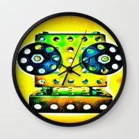 dj Wall Clocks featuring DJ by Yukska
