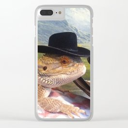 Cowboy Toothless Clear iPhone Case