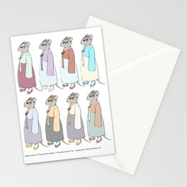 Nathalie Unseen: Mouse Queen color study Stationery Cards