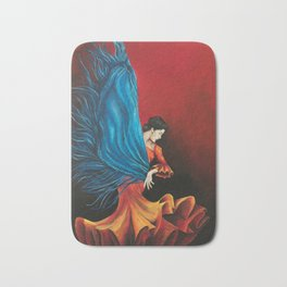 Spanish Flamenco Dancer Bath Mat