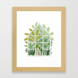 jungle greenhouse Framed Art Print