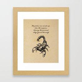 Friedrich Nietzsche - The Scorpion Framed Art Print
