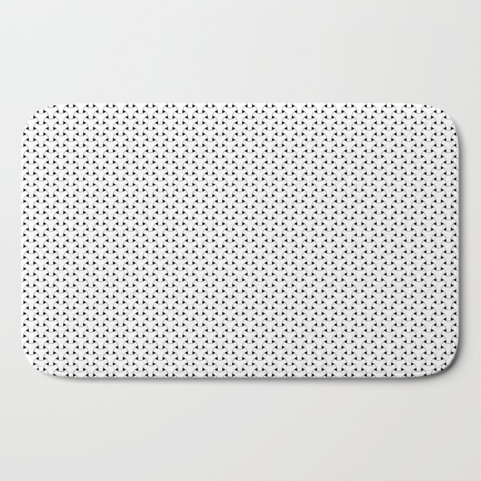 Black and White Basket Weave Shape Pattern - Graphic Design Bath Mat