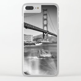Golden Gate Bridge with breakers Clear iPhone Case