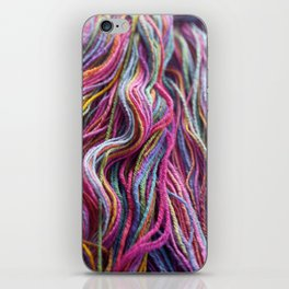 Colorful Handspun Yarn Magenta iPhone Skin