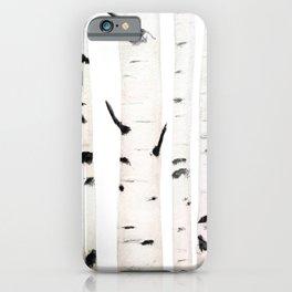 birch  watercolor iPhone Case