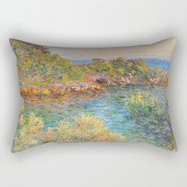 """Claude Monet """"Landscape near Montecarlo"""" Rectangular Pillow"""