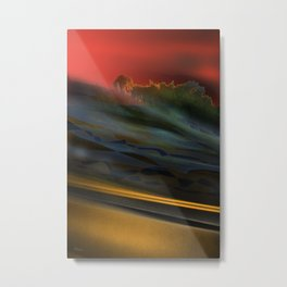 FAST DRIVE TO SUNDAY Metal Print