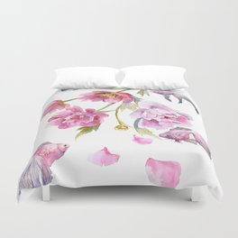 Peony Fish Success Story Duvet Cover