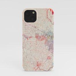 Hillsboro map Oregon painting iPhone Case