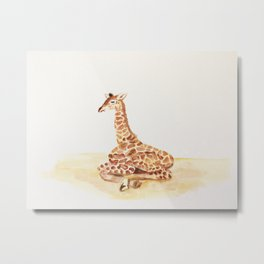 Baby G - The most loved Giraffe baby Metal Print