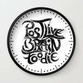 Post-Live  Brain-Foodie Wall Clock