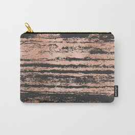Marble Black Rose Gold - Never Mind Carry-All Pouch