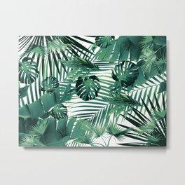 Tropical Jungle Leaves Siesta #5 #tropical #decor #art #society6 Metal Print