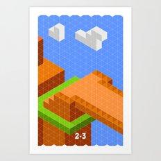 Mario World 2-3 Art Print