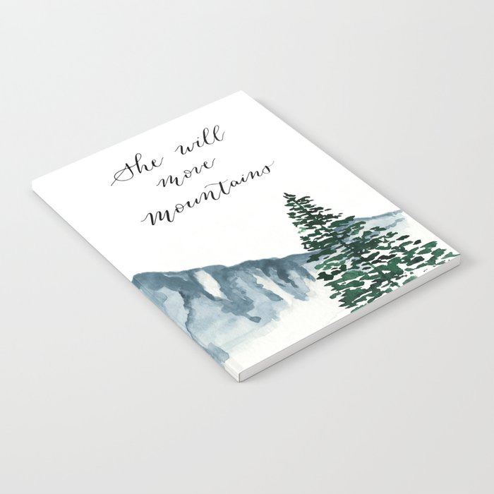 She Will Move Mountains Notebook