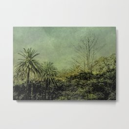 Nature Scene Grunge Vintage Style Photo Metal Print