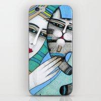 hug iPhone & iPod Skins featuring HUG by ALBENA