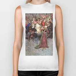 Beauty by Edmund Dulac Biker Tank