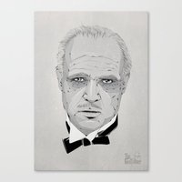 the godfather Canvas Prints featuring Godfather by Zé gouveia