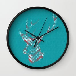 Vintage deer red Wall Clock