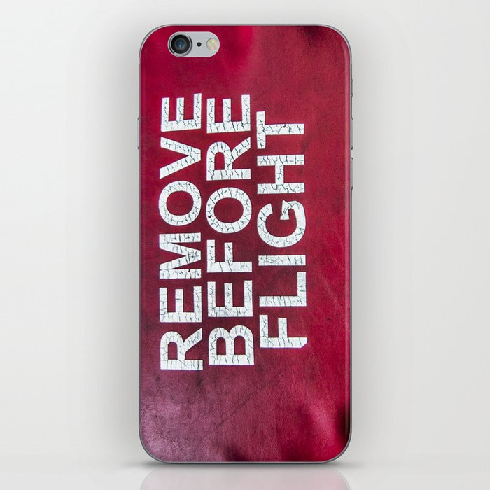 Remove before flight iPhone Skin