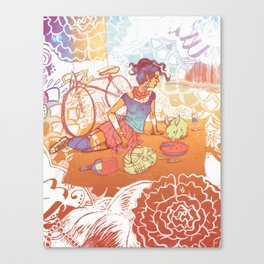 Bicycle Picnic Canvas Print