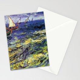 Vincent van Gogh Fishing Boats at Saintes-Maries Stationery Cards